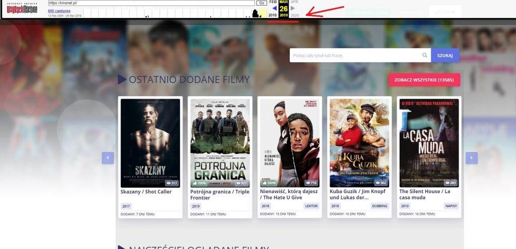 kinonet webarchive