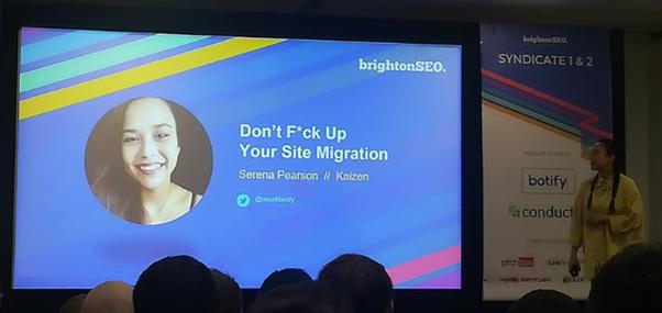 Serena Pearson - prezentacja Brighton SEO wrzesień 2019