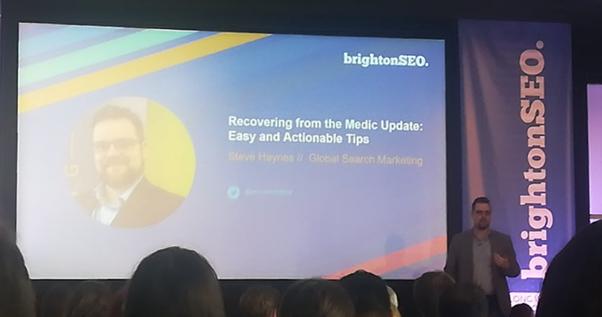 Steve Haynes - prezentacja Brighton SEO wrzesień 2019