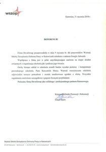 Wyższa Szkoła Zarządzania Ochroną Pracy wKatowicach
