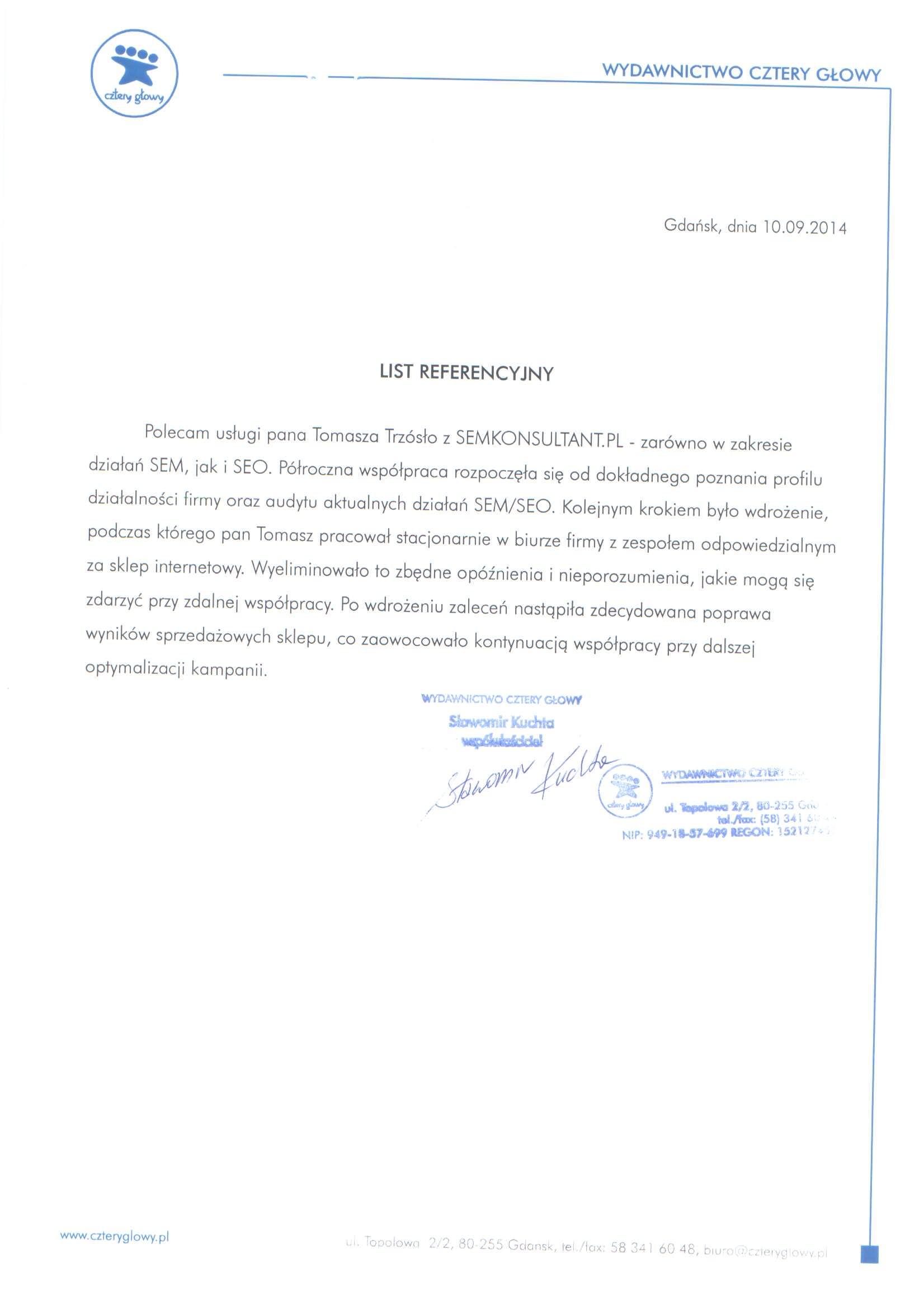 Referencje dla RoiExperts od Fiszki.pl