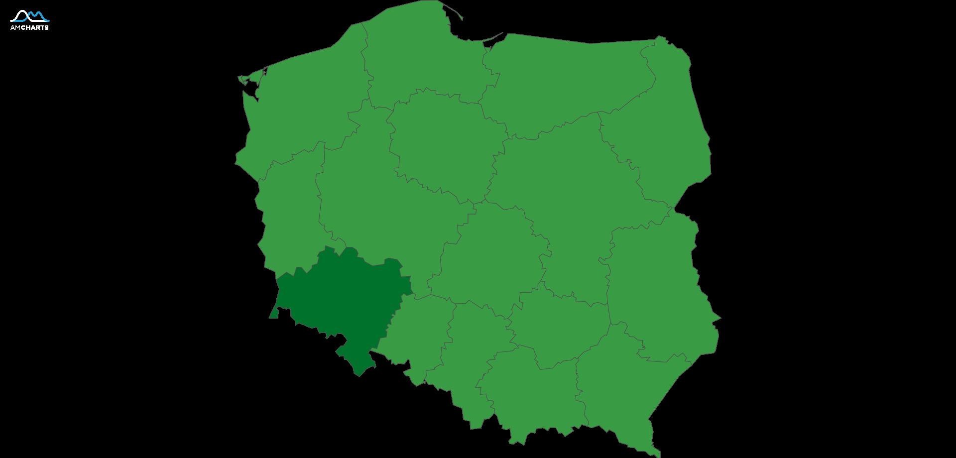 mapa wojewodztwo dolnoslaskie