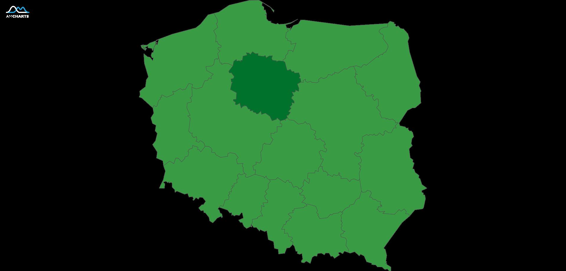 mapa wojewodztwo kujawsko-pomorskie