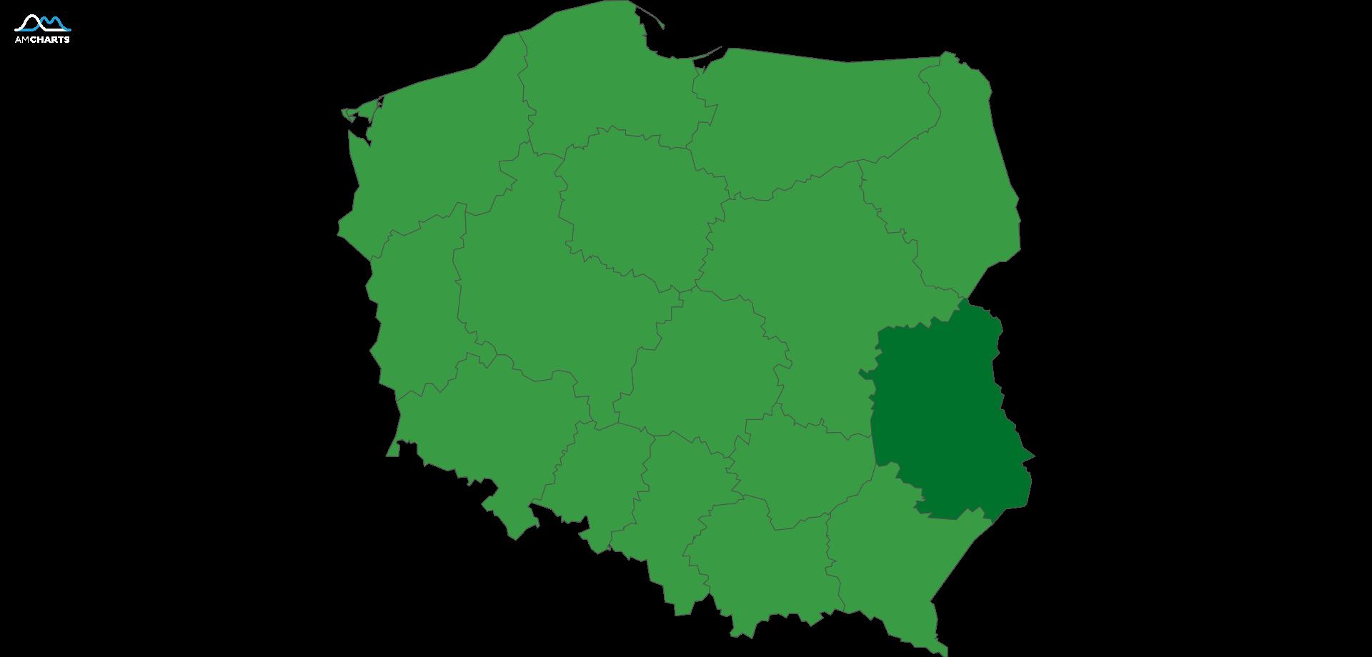 mapa wojewodztwo lubelskie