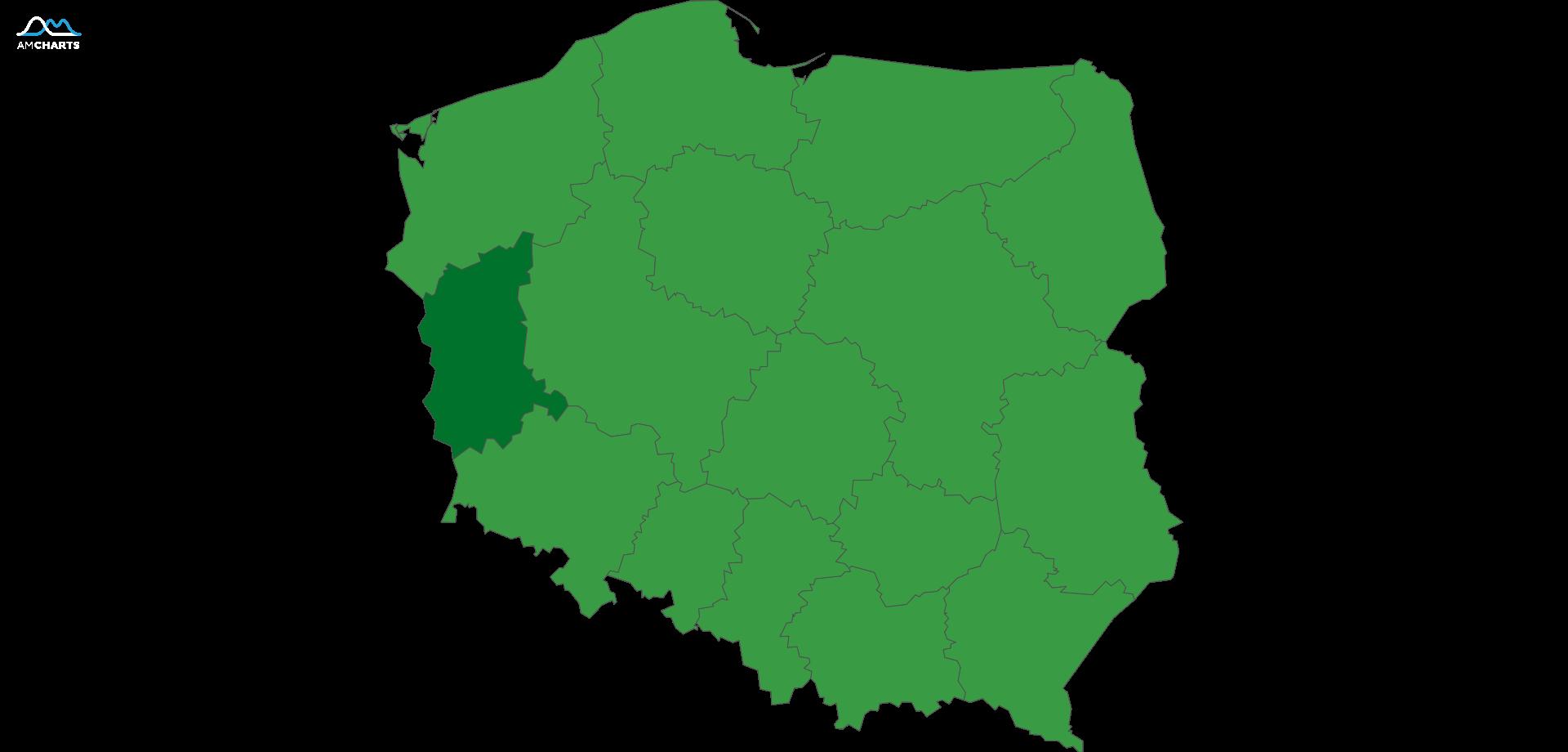 mapa wojewodztwo lubuskie