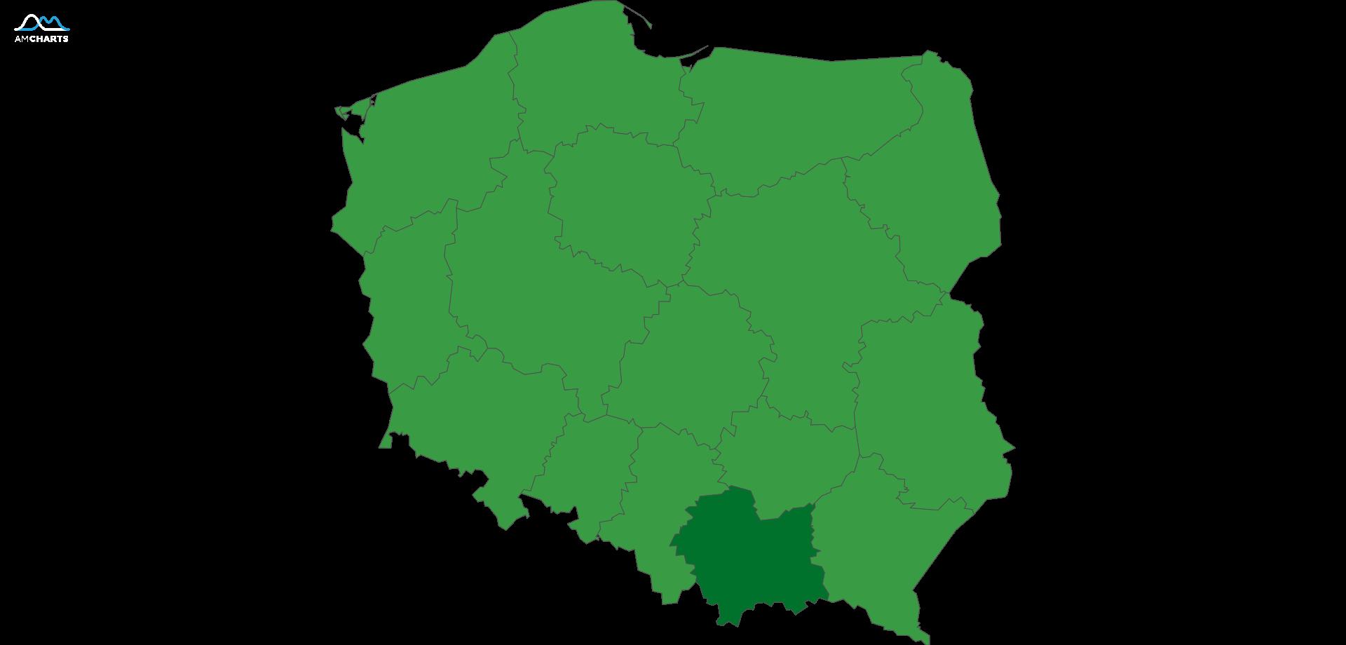 mapa małopolska