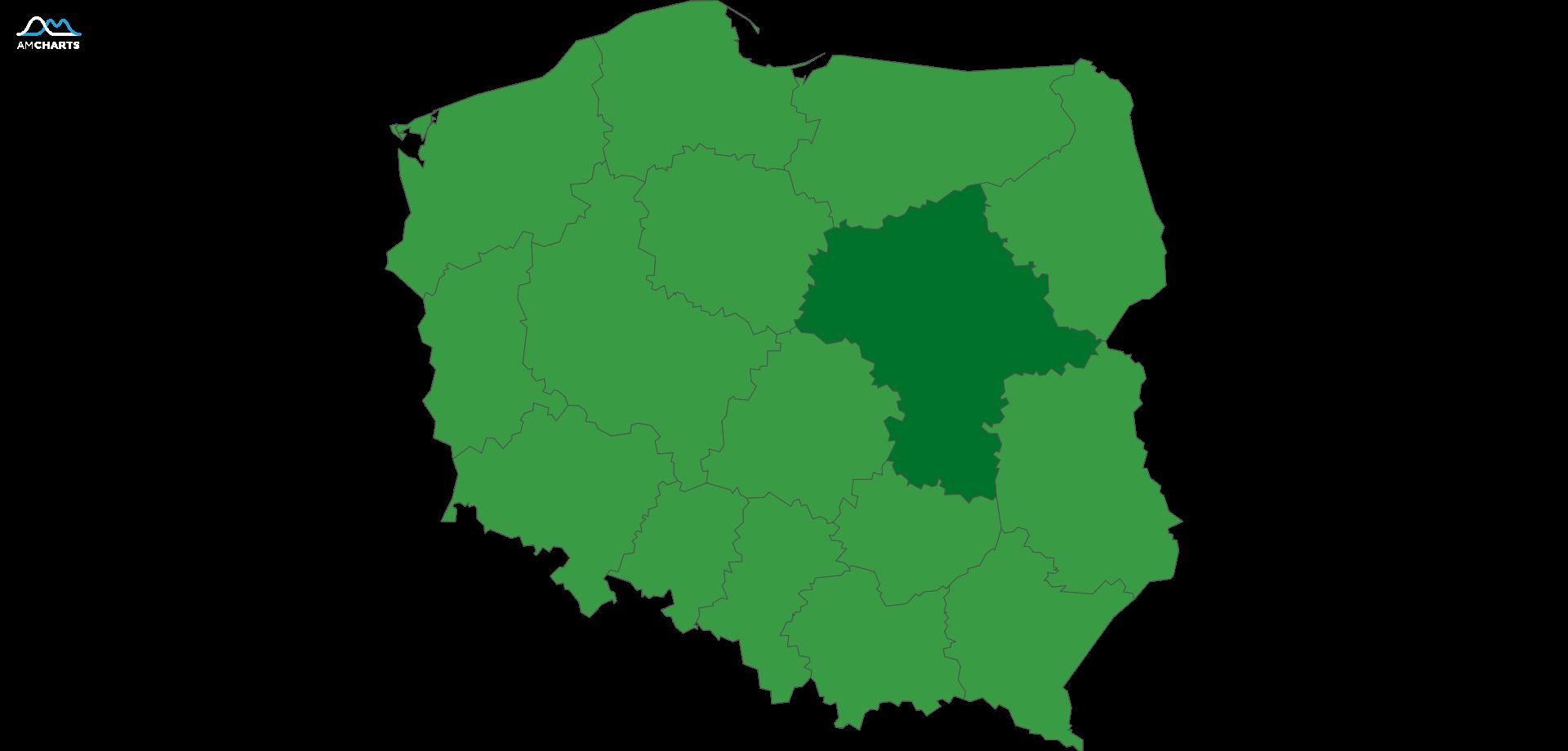 mapa wojewodztwo mazowieckie