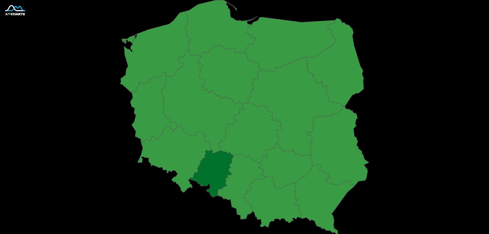 mapa wojewodztwo opolskie