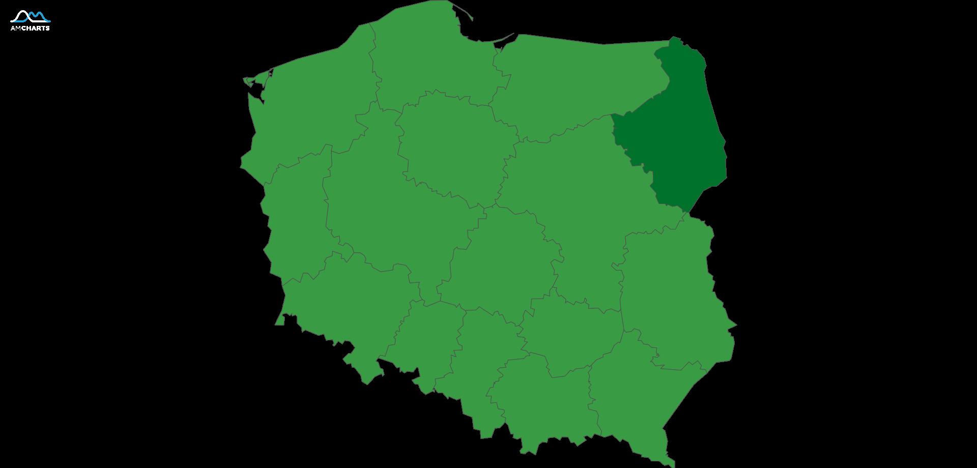 mapa wojewodztwo podlaskie