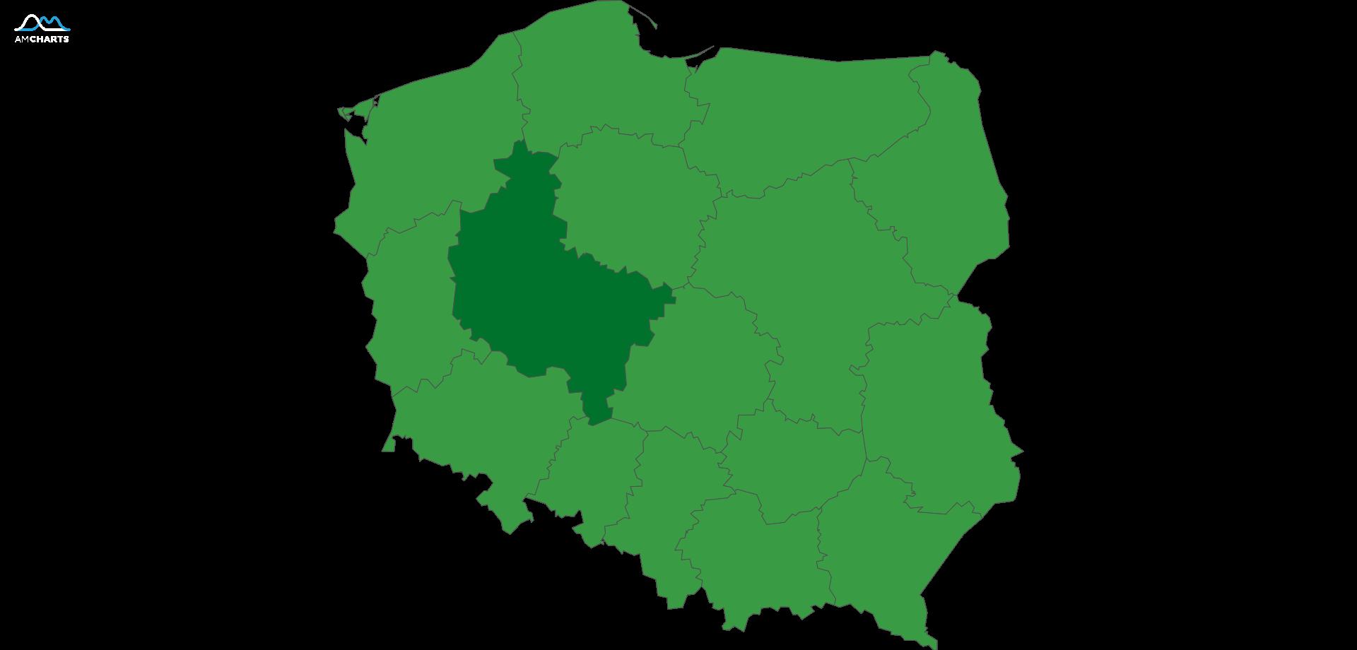 mapa wojewodztwo wielkopolskie