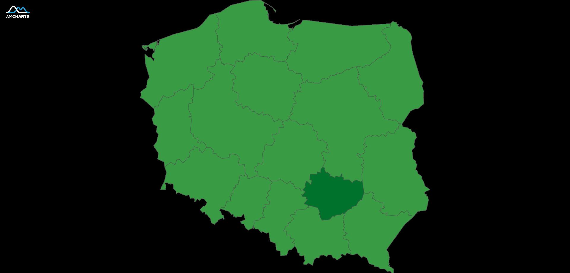 mapa wojewodztwo swietokrzyskie