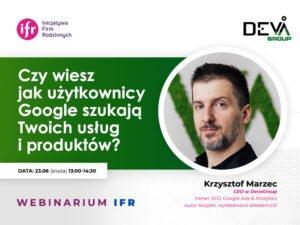 Czy wiesz jak użytkownicy Google szukają Twoich usług i produktów?   Webinarium Inicjatywy Firm Rodzinnych